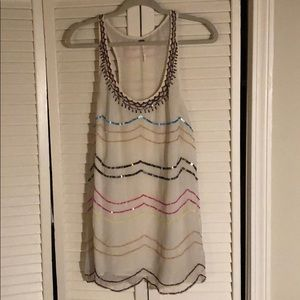 Free people tank top with colorful sequins